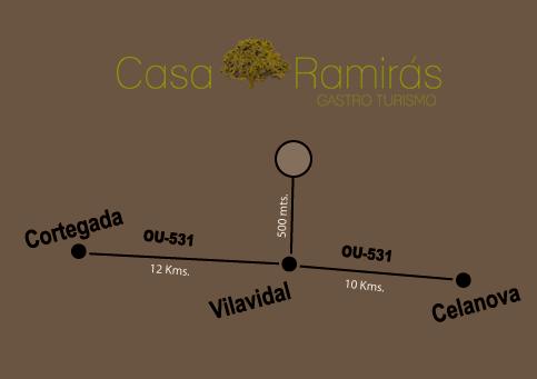 Plano de como llegar a Casa Ramirás